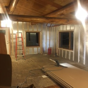 New insulation and furring in progress!
