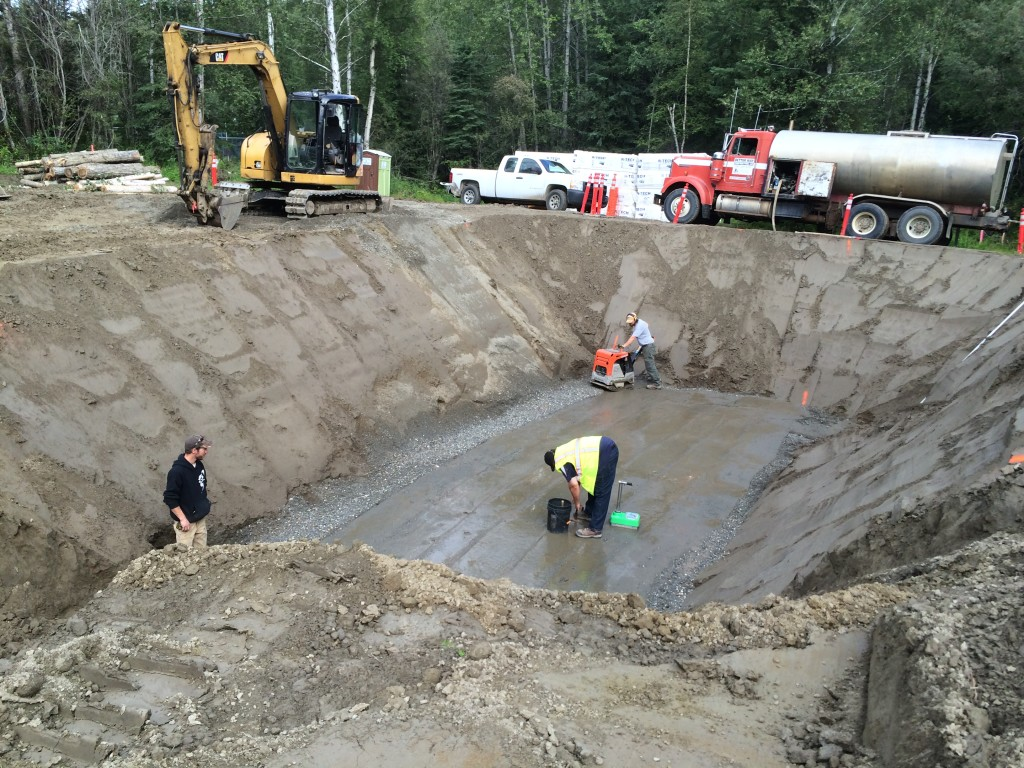 After reaching the excavation limits, 24 inches of structural fill were placed in lifts and compacted to 95% or greater.