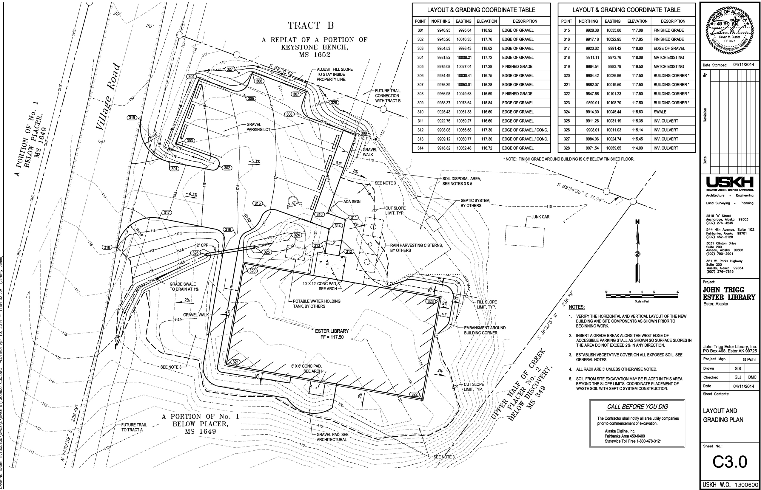 Site Plan Ester Library