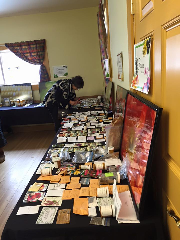 Tables overflowing with seeds at the March 4, 2017 Seedy Saturday. Photo by Monique Musick.