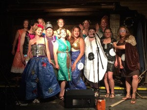 Costume contestants pose for the camera